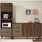 日本直人木業傢俱- Italy簡約150CM廚櫃加60CM立櫃