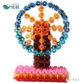 雪花片玩具兒童拼裝積木大號3-6歲女益智力開發塑料拼插1000片裝 qz1706【甜心小妮童裝】