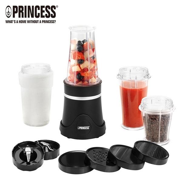 PRINCESS 荷蘭公主 隨行冰鎮杯果汁機/霧黑212065