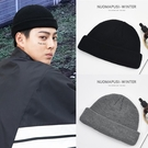 帽子男潮瓜皮帽韓版針織毛線帽嘻哈街頭流氓帽雅痞秋冬天包頭冷帽 韓國時尚週