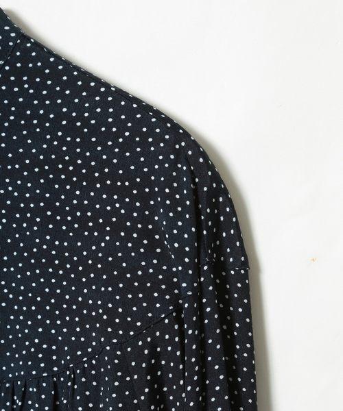 出清 圓點細褶襯衫 現貨 免運費 日本品牌【coen】