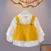爆款熱銷女童襯衫女寶寶春裝0-1-3歲女童襯衫兩件套裝聖誕節