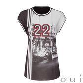 Oui (德國品牌) 黑白22印花T恤
