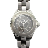 CHANEL 香奈兒 銀灰色鈦陶瓷石英腕錶 J12 33mm H2978 【BRAND OFF】
