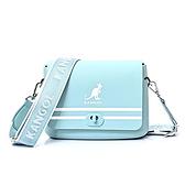 KANGOL 水藍色掀蓋隨身側背包-NO.6025300181