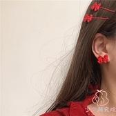 耳飾耳夾蝴蝶結耳釘磨砂可愛甜美小耳環少女【少女顏究院】