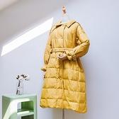 羽絨夾克-長版純色修身單排扣女白鴨絨外套3色73wc4【巴黎精品】