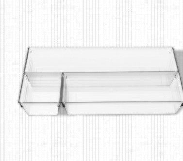 【協貿國際】透明多彩長形抽屜收納盒3件套