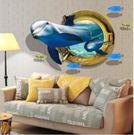 預購-3D海豚臥室客廳牆貼