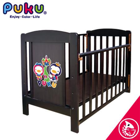 金寶貝 PUKU 藍色企鵝 多功能 古典嬰兒床 (可當書桌)【01923】
