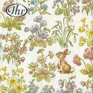 花團與小兔-德國 IHR 餐巾紙(33x33cm)