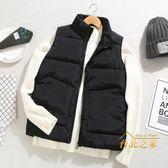 背心外套羽絨棉馬甲韓版男士保暖背心潮坎肩社會網紅同款棉服外套男 聖誕交換禮物