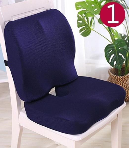 坐墊靠墊一體辦公室腰靠腰墊汽車靠背學生椅子椅墊孕婦美臀套裝 LX 春季新品