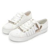 PLAYBOY浪漫縷空可拆鞋釦休閒鞋-白(Y6202)