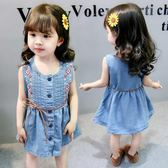 女童牛仔裙 時尚洋氣夏裝小童裝夏季女童牛仔裙女LJ8722『miss洛羽』