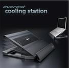 Akasa everest筆電散熱器 全鋁筆電散熱座 支援多平台USB集線器 調整角度 14 15.6寸散熱架
