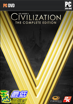 [106美國直購] 2017美國暢銷軟體 Sid Meiers Civilization V The Complete Edition  PC