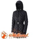 【Wildland 荒野 女款 輕量四層700FP中長羽絨衣 黑色】0A32101/連帽外套/羽絨外套/保暖外套