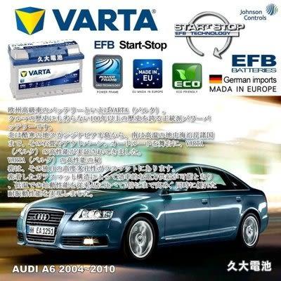✚久大電池❚ 德國進口 VARTA D54 EFB 65Ah 德國 原廠電瓶 奧迪 AUDI A6 2004~2010
