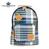 【COLORSMITH】LPC・小巧豬鼻造型後背包-經典綠格紋・LPC1151-CH