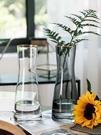 花瓶 歐式創意簡約玻璃花瓶透明水養植物鮮花玫瑰百合花瓶干花插花擺件【快速出貨八折鉅惠】