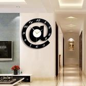 家用a符號創意靜音個性鐘錶時尚掛鐘臥室石英鐘客廳潮流時鐘DF