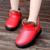 雪靴 兒童雪地靴冬季女童短靴男童保暖棉鞋防水寶寶冬鞋中小童靴子   魔法鞋櫃