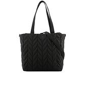 【KATE SPADE】尼龍縫線手提/斜背二用媽媽包(附小袋)(黑色) WKRU6465 001