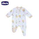 chicco-粉彩--印花滿版前開長袖兔裝