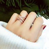戒指歐美誇張個性戒指指環交叉多層關節戒尾戒食指戒指