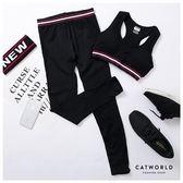 Catworld 復古彩條。無縫針織彈力運動褲【12001917】‧S/M/L