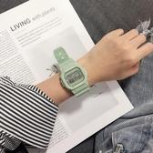 青少年手錶男女學生簡約潮流方形計時鬧鐘防水運動情侶電子錶 青山市集