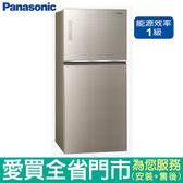 (1級能效)Panasonic國際650L雙門變頻冰箱NR-B659TG-N含配送到府+標準安裝【愛買】