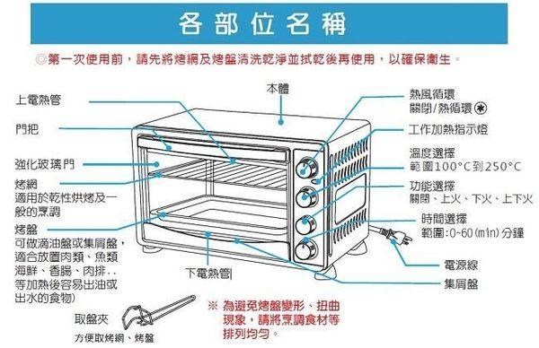 SANLUX 台灣三洋 30L旋風式定時電烤箱 SK-30D