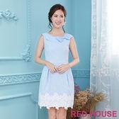 Red House 蕾赫斯-復古圓領蝴蝶結無袖洋裝(共2色)