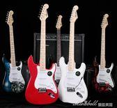 電吉他單搖ST電子吉它套裝專業級成人初學者入門搖滾電吉他YYP  蜜拉貝爾