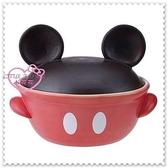 ♥小花花日本精品♥Hello Kitty 迪士尼米奇大臉有蓋陶瓷燉鍋砂鍋火鍋土鍋魯鍋 11129509