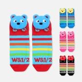WHY AND 1/2 立體普普熊短襪 多色可選