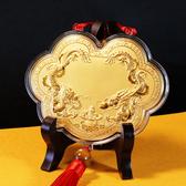 三太子/中壇元帥神明金牌(小) 10cm (0.03錢)如意雙龍聚財