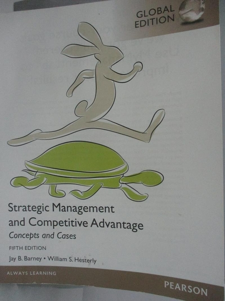 【書寶二手書T8/大學商學_DMV】Strategic Management and Competitive Advantage: Concepts and Cases (GE)_Jay B. Barney