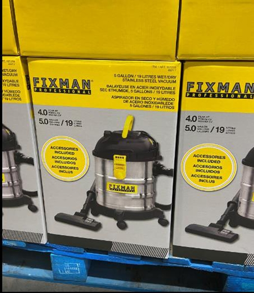 C107259 FIXMAN DRY/WET VACUUM 幹濕兩用吸塵器 (預購9月下旬)