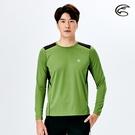 ADISI 男圓領抗靜電紗長袖上衣AL2021066 (M-2XL) / 城市綠洲 (透氣保暖 排汗速乾 機能服)