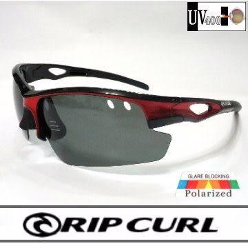 [Rip Curl] UF9424/全面最低價!!!抗藍光抗UV保麗萊運動偏光鏡/黑紅/騎車.戶外族專用
