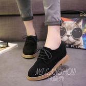 小皮鞋 女鞋英倫風復古低跟韓版中性單鞋
