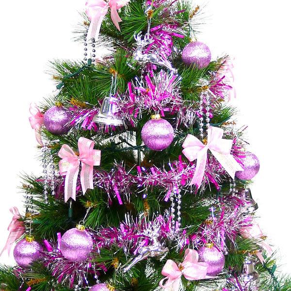 台灣製3尺/3呎(90cm)特級松針葉綠聖誕樹 (+銀紫色系配件)(不含燈)(本島免運費)