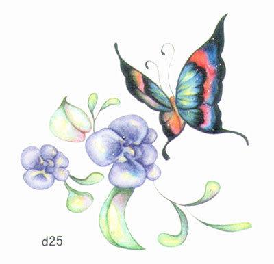 薇嘉雅 玫瑰花 超炫圖案紋身貼紙 d25