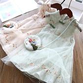 女童旗袍裙子夏裝漢服中國風小女孩公主裙洋氣2021新款兒童洋裝13 幸福第一站