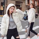 【GZ81】連帽外套 簡約純色面包服短款寬鬆百搭韓版顯瘦棉衣外套