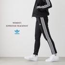 愛迪達 ADIDAS ORIGINALS 三葉草 CE2400女運動褲 基本款 黑色 黑白 三條 窄版 運動長褲/澤米