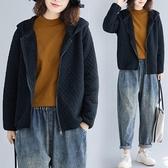 連帽短外套女 秋裝中年減齡 加絨長袖中大尺碼外套 秋季上新 降價兩天